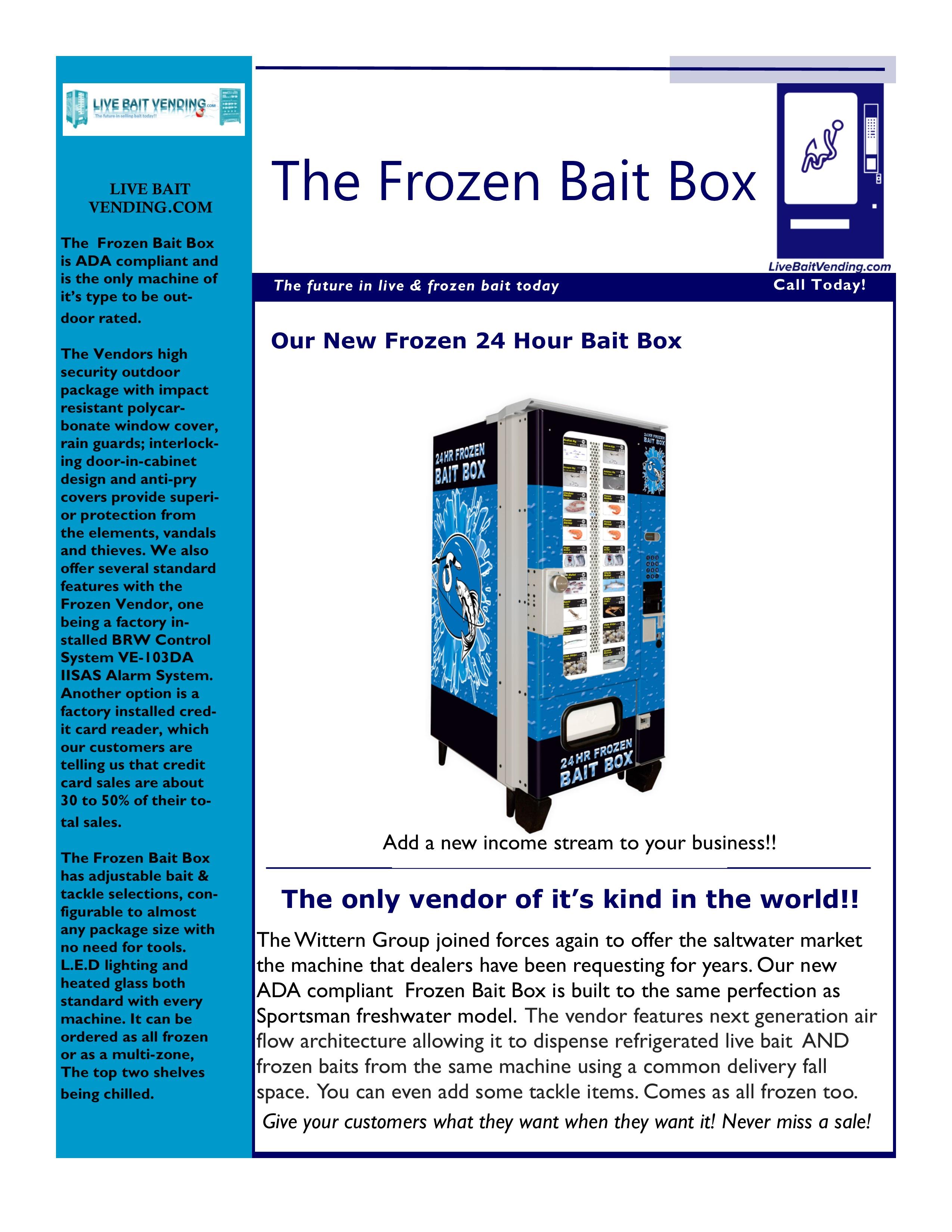 The Frozen Bait Box – Live Bait Vending com